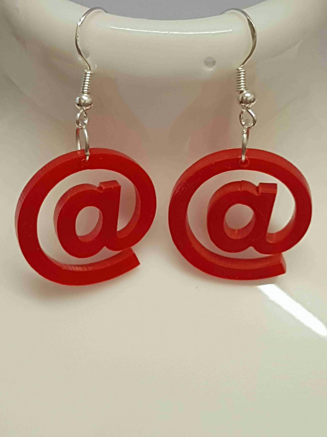 AT symbol Earrings - Acrylic