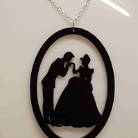 Prince and Princess Fairytale Necklace - Acrylic