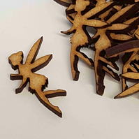 MDF Fairy D 3cm - 40 x Laser cut wooden shape