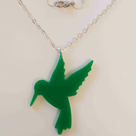 Hummingbird Necklace - Acrylic