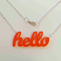 Hello Necklace - Acrylic