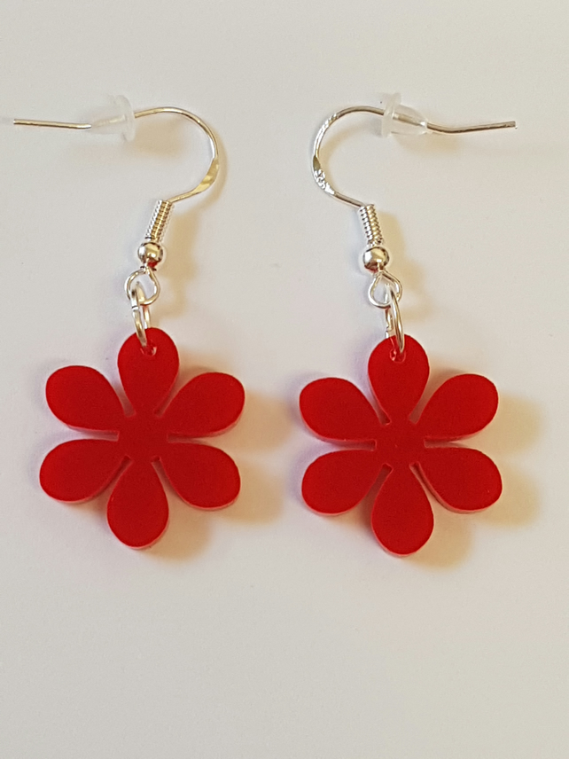 Flower Earrings 6 petals - Acrylic