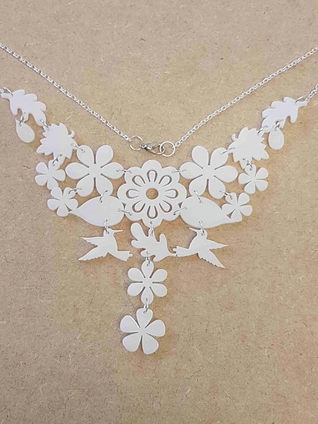 Tropical Dream Necklace - White Acrylic