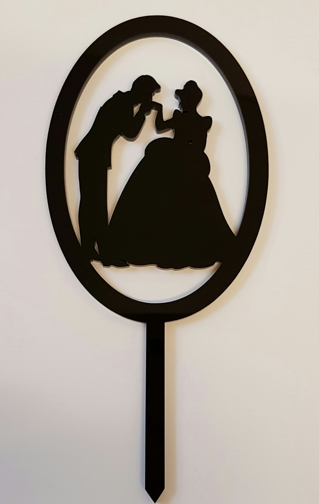Acrylic Cake Topper - Prince and Princess - Laser cut