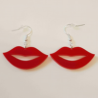Hot lips Earrings - Acrylic