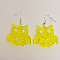 Wise Old Owl Earrings - Acrylic