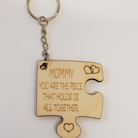 Mummy Puzzle Keyring - Birch Plywood