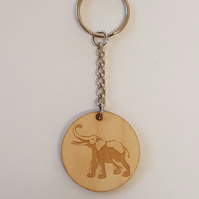 Elephant Keyring - Birch Plywood