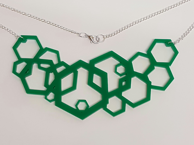 Geometric Hexagon Necklace - Acrylic