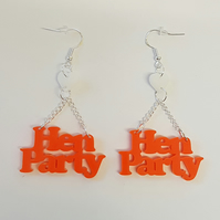 Hen Party Earrings - Acrylic