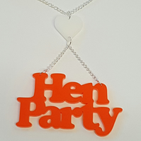 Hen Party Necklace - Acrylic