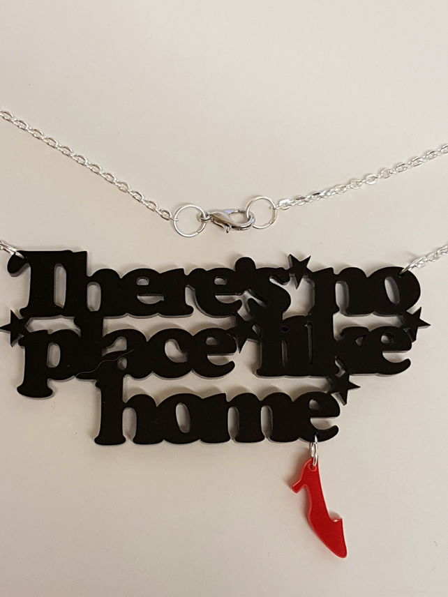 No Place Like Home Necklace - Acrylic