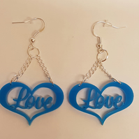 Love in a Heart Earrings - Acrylic