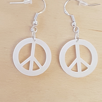 Peace Symbol Earrings - Acrylic
