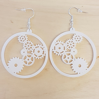 Steampunk Cog Earrings - Acrylic