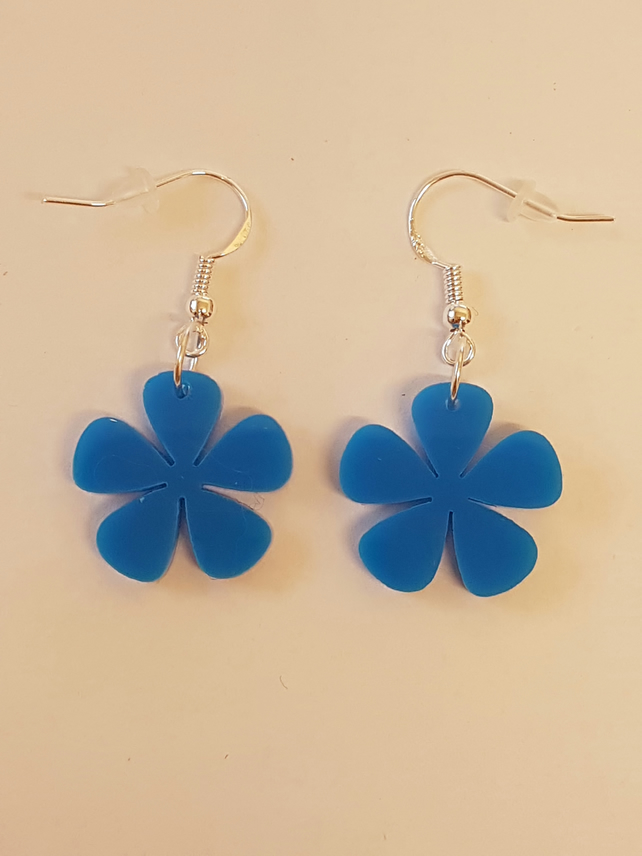 Flower Earrings 5 petals - Acrylic