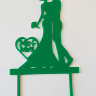 Acrylic Cake Topper - Bride & Groom - Laser cut