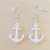 Anchor Earrings - Acrylic