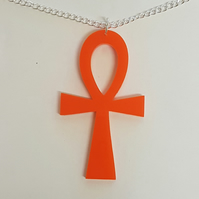 Ankh Cross Necklace - Acrylic