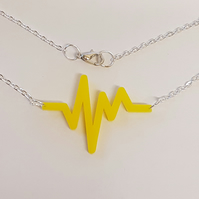 EKG Heartbeat Necklace - Acrylic