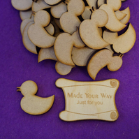 MDF Rubber Duck 3cm- 40 x Laser cut wooden shape