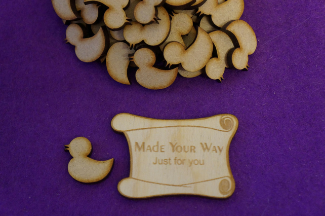 MDF Rubber Duck 2cm - 50 x Laser cut wooden shape