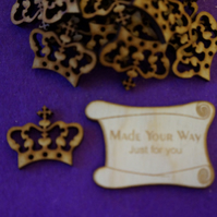 MDF Crown C 3cm - 20 x Laser cut wooden shape