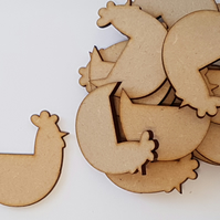 MDF Chicken Hen 5cm - 15 x Laser cut wooden shape