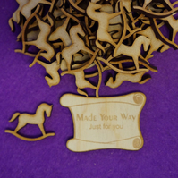 MDF Rocking Horse A 3cm - 40 x Laser cut wooden shape