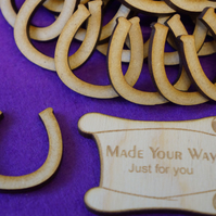 MDF Horseshoe 3cm - 40 x Laser cut wooden shape