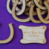 MDF Horseshoe 4cm - 25 x Laser cut wooden shape
