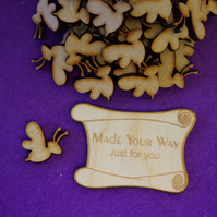 MDF Wasp Bumble Bee 2cm - 50 x Laser cut wooden shape