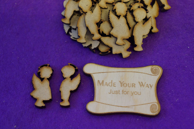 MDF Boy and Girl Angel 3cm - 30 (15 pairs) x Laser cut wooden shape