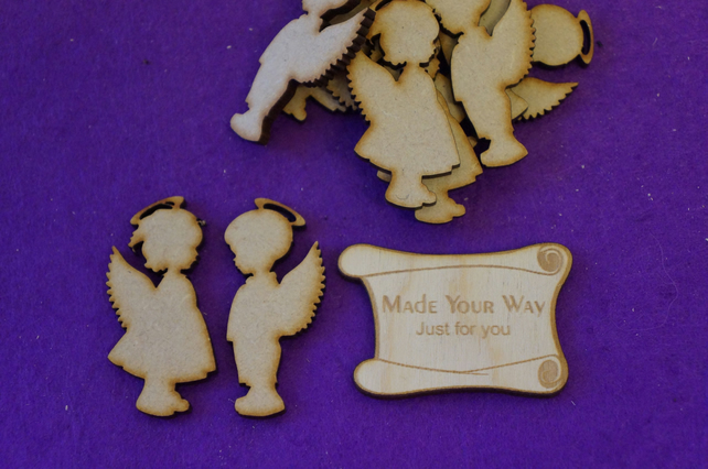MDF Boy and Girl Angel 5cm - 10 (5pairs) x Laser cut wooden shape