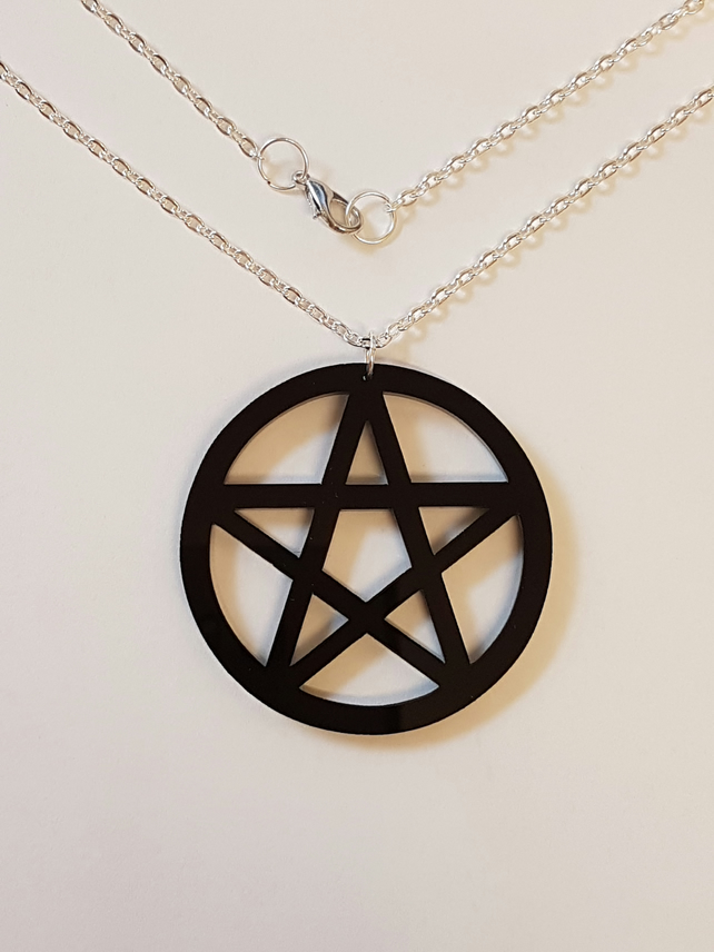 Pentagram Symbol Necklace - Acrylic
