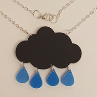 Raincloud Necklace - Acrylic