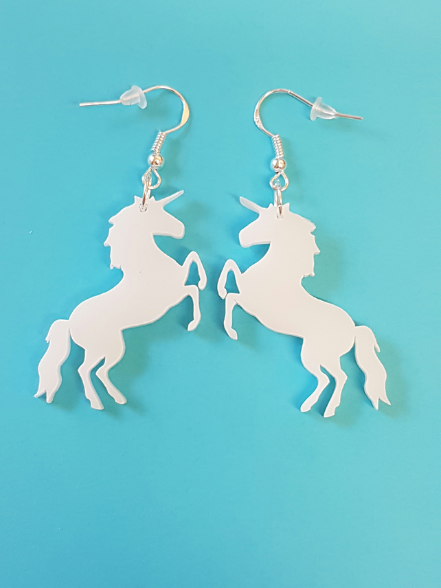 Mystical Unicorn Earrings - Acrylic