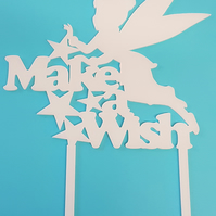Acrylic Cake Topper - Fairy Make A Wish - Laser cut