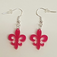 Fleur-de-lis Earrings - Acrylic