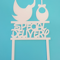 Acrylic Cake Topper - Special Delivery Stork - Laser cut