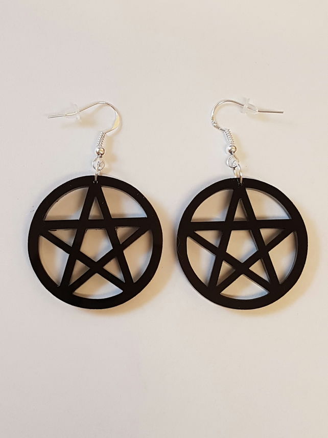 Pentagram Symbol Earrings - Acrylic