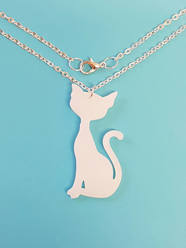 Sitting Cat Necklace - Acrylic