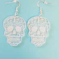 Sugar Skull Earrings - Acrylic