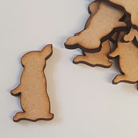MDF Bunny Rabbit B 3cm - 40 x Laser cut wooden shape