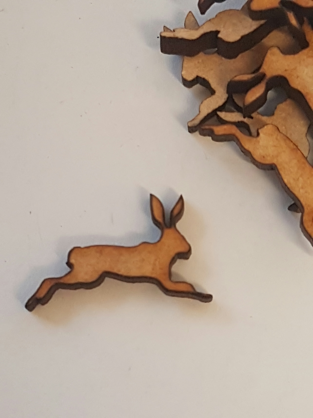 MDF Hare Bunny Rabbit C 2cm- 50 x Laser cut wooden shape