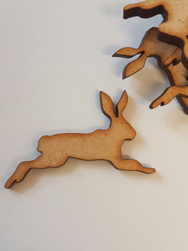 MDF Hare Bunny Rabbit C 4cm - 25 x Laser cut wooden shape