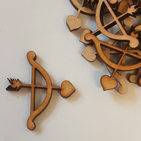MDF Cupid Arrow 3cm - 30 x Laser cut wooden shape