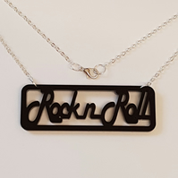 Rock n Roll Sign Necklace - Acrylic