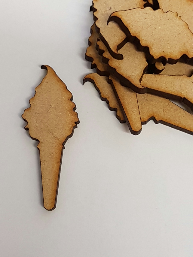 MDF Ice Cream 5cm - 15 x Laser cut wooden shape