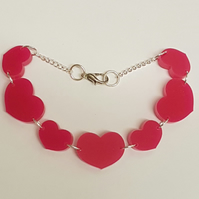 Multiple Heart Bracelet - Acrylic